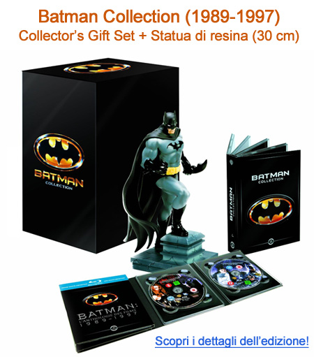 Batman Collection 1989 - 1997 - Blu-Ray + DVD + Statuta di resina di 30 cm. In prenotazione su www.dvdweb.it
