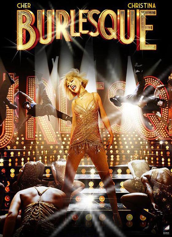 Christina Aguilera sul palco del Burlesque!