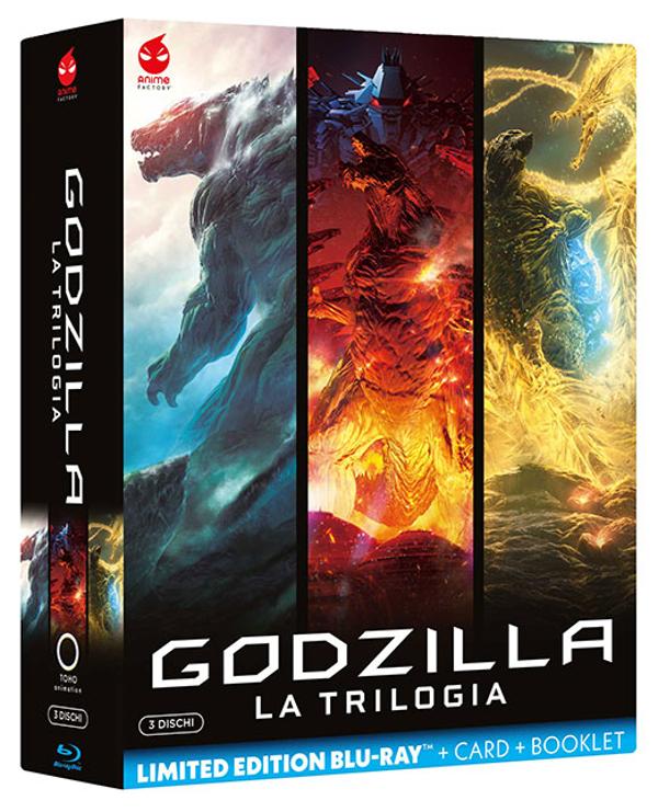 All'anime di Godzilla! La trilogia in Blu-Ray