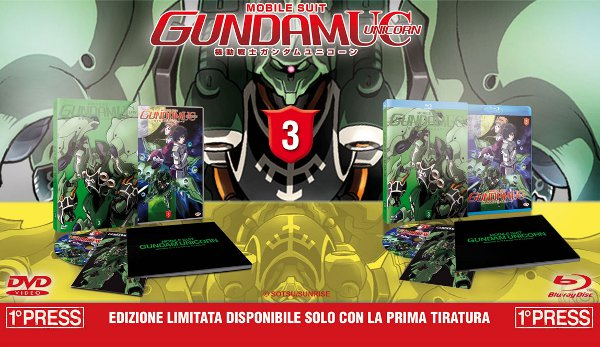 Cover e contenuti di Gundam Unicorn volume 3!