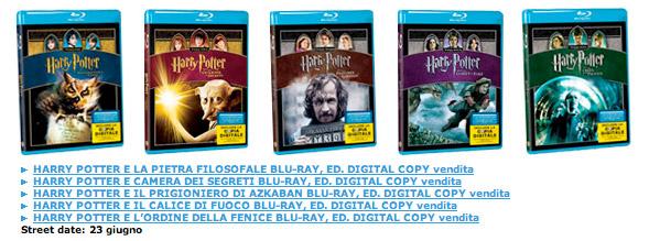 Harry Potter Blu-Ray Disc