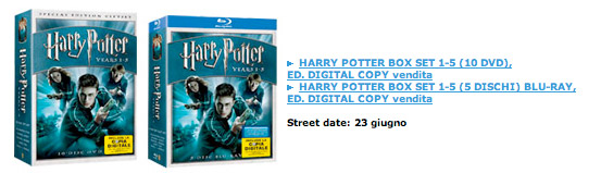 I cofanetti di Harry Potter