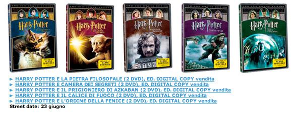 Harry Potter Dvd da collezione