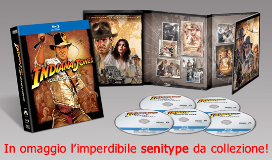 Indiana Jones Blu-Ray Disc a catalogo con il Senitype!