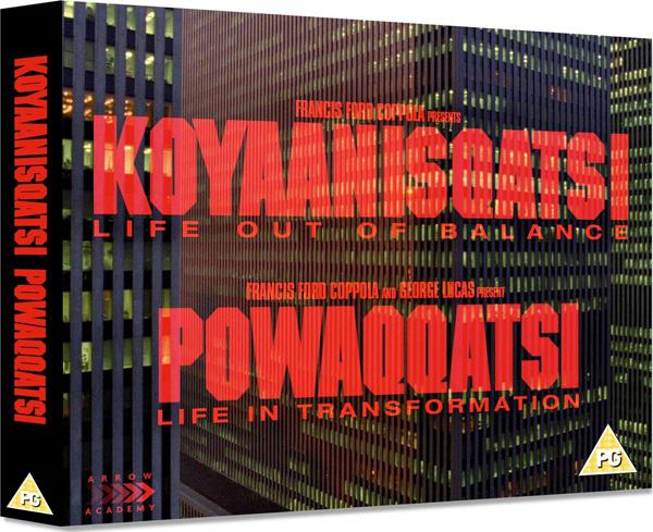 I dettagli sul box di Koyaanisqatsi + Powaqqatsi!