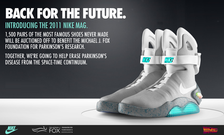 Dal 2015, arrivano le Nike Mag di Marty McFly!!