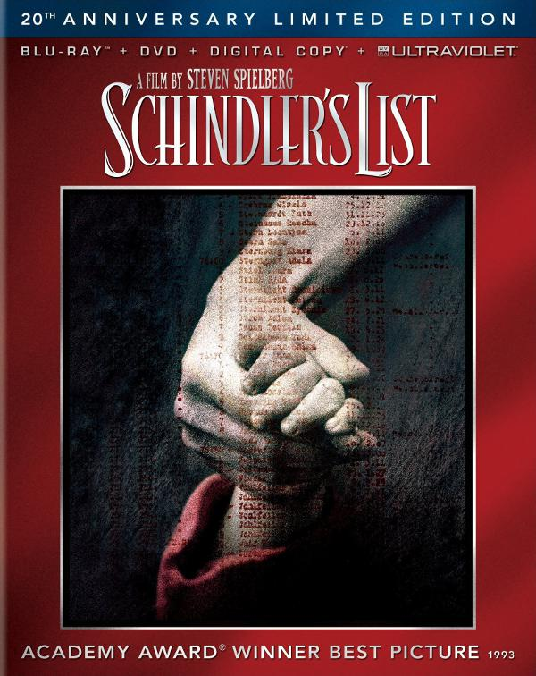 Schindler's List Blu-Ray Disc: trailer e cover americana!