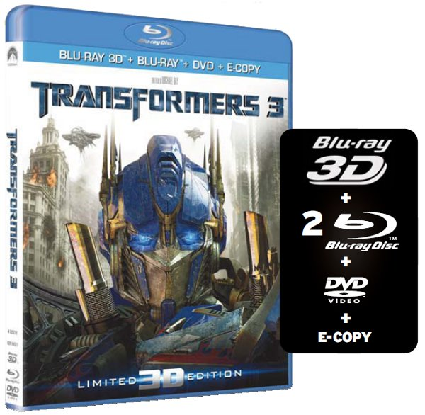 Transformers 3 finalmente in 3D e con gli extra!